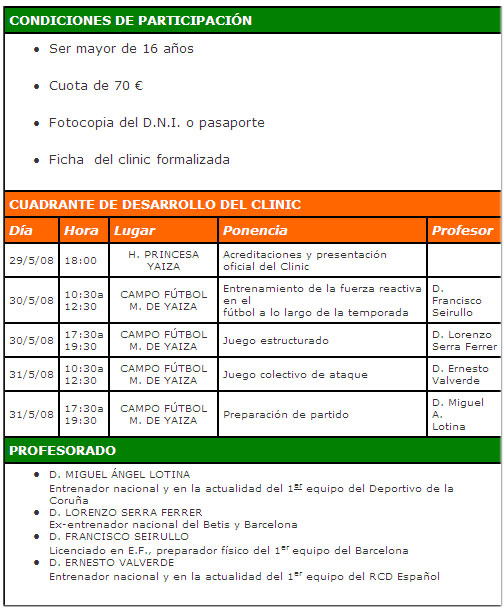 Condiciones del Clinic