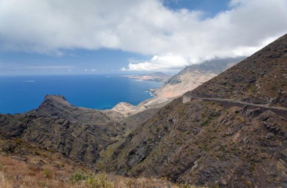 Vista de la costa Canaria