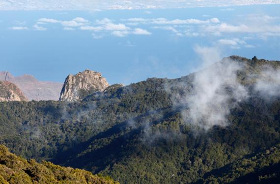 Vista de La Gomera