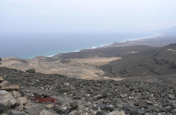 La costa de Fuerteventura